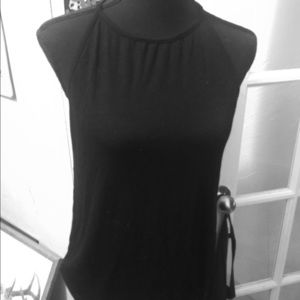 Lou Keith nwot black soft  halter top blouse